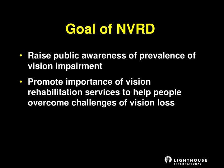 Goal of NVRD