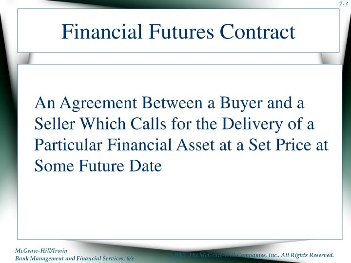 Financial Futures Contract