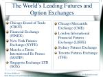 the world s leading futures and option exchanges