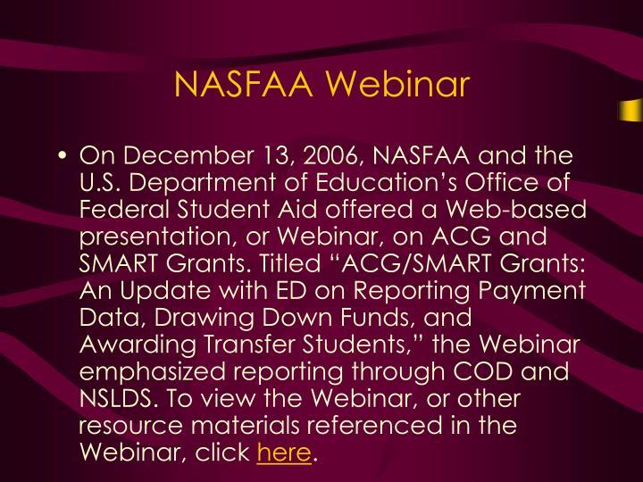 NASFAA Webinar