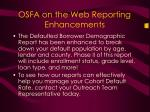 osfa on the web reporting enhancements