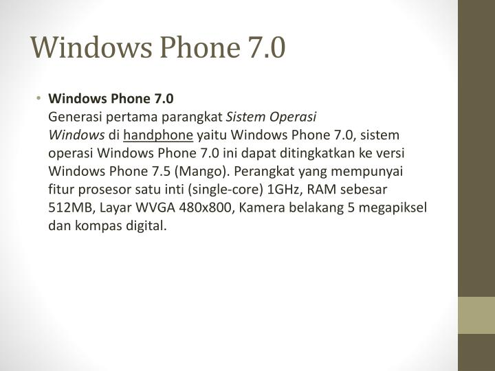 Windows Phone 7.0