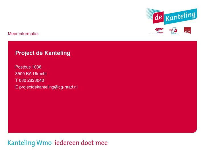 Project de Kanteling