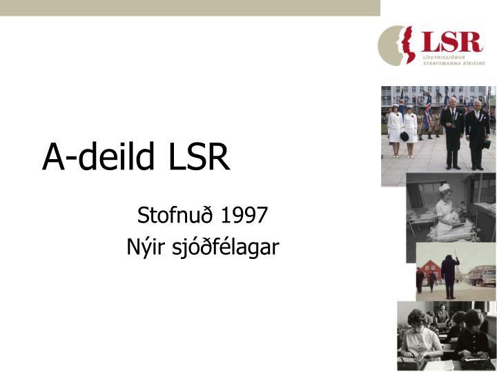 A-deild LSR