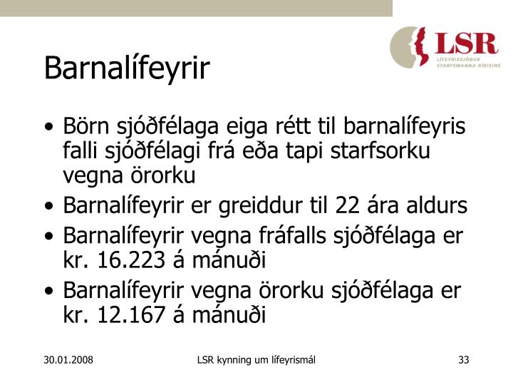 Barnalífeyrir