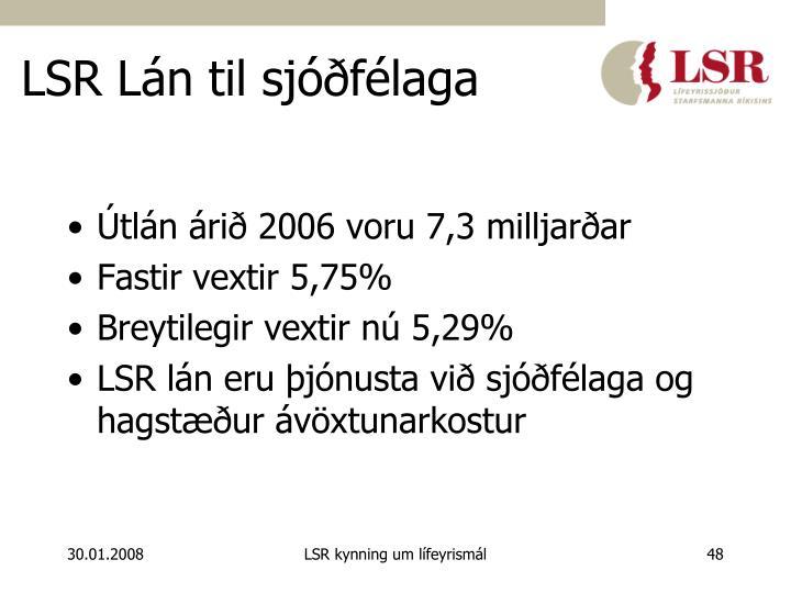 LSR Lán til sjóðfélaga