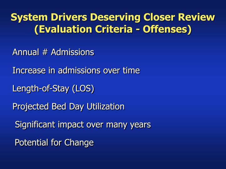 System Drivers Deserving Closer Review