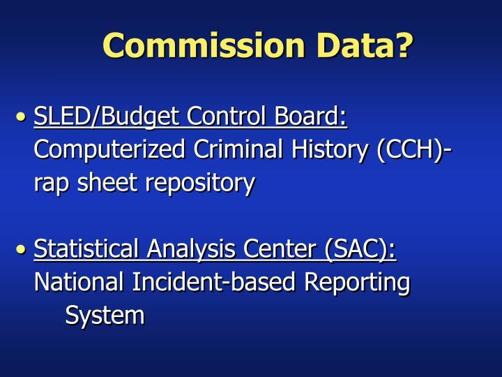 Commission Data?