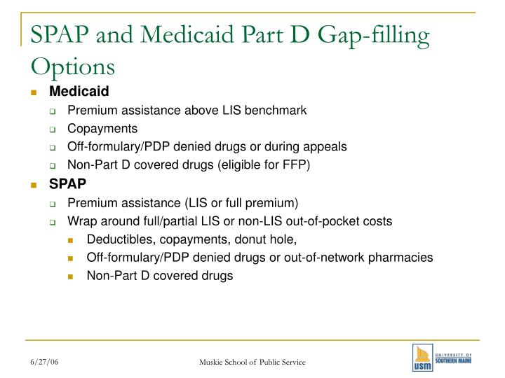 SPAP and Medicaid Part D Gap-filling Options
