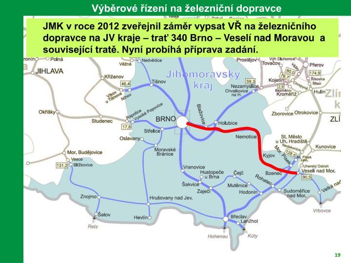 Výběrové řízení na železniční dopravce