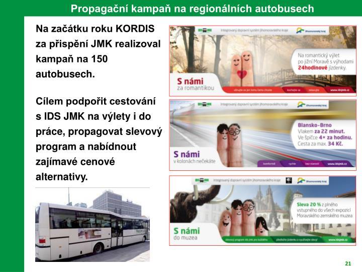 Propagační kampaň na regionálních autobusech