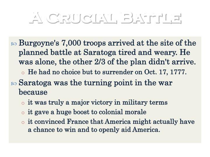 A Crucial Battle