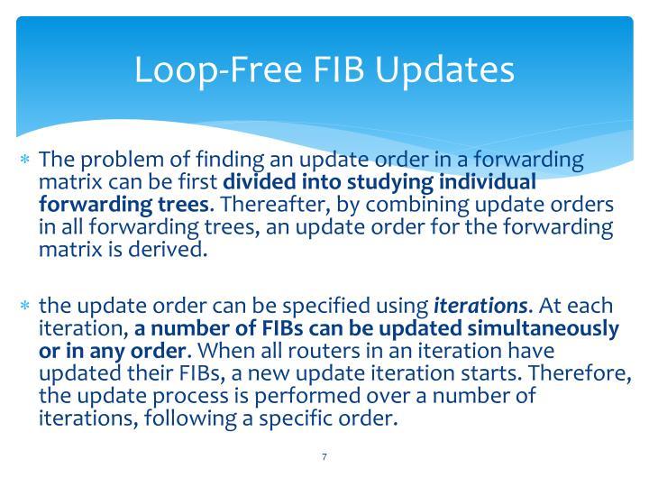 Loop-Free FIB Updates