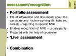 assessment recognition