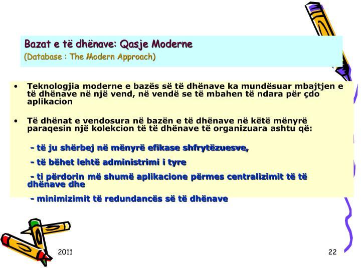 Bazat e të dhënave: Qasje Moderne