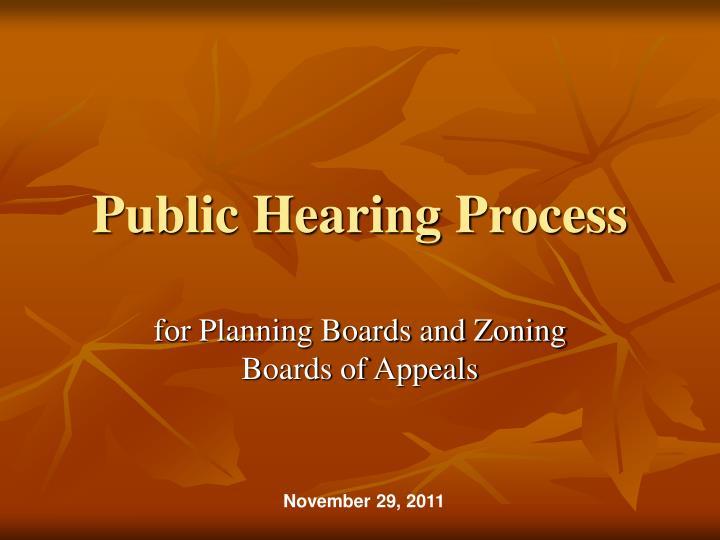 Public Hearing Process