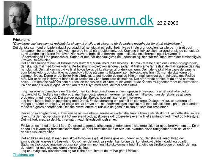 http://presse.uvm.dk