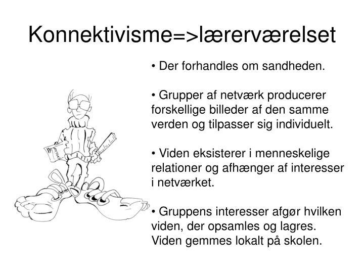 Konnektivisme=>lærerværelset