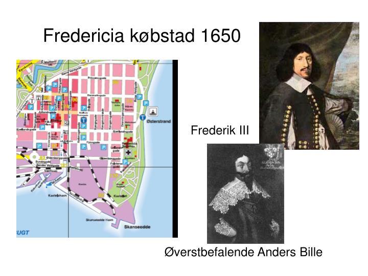 Fredericia købstad 1650