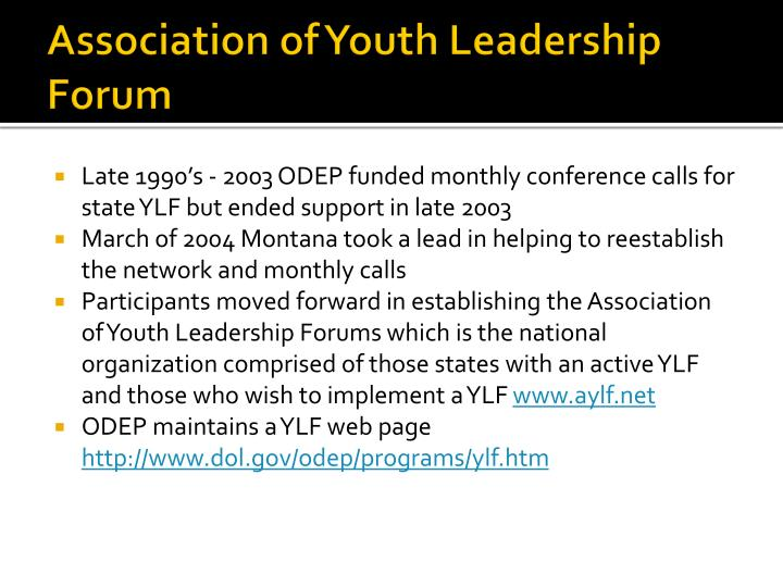 Association of Youth Leadership Forum