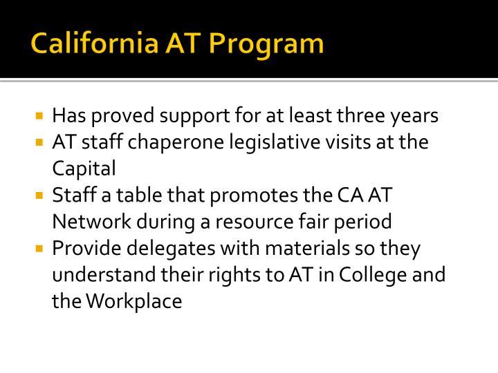 California AT Program