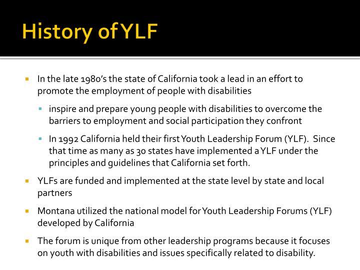 History of YLF