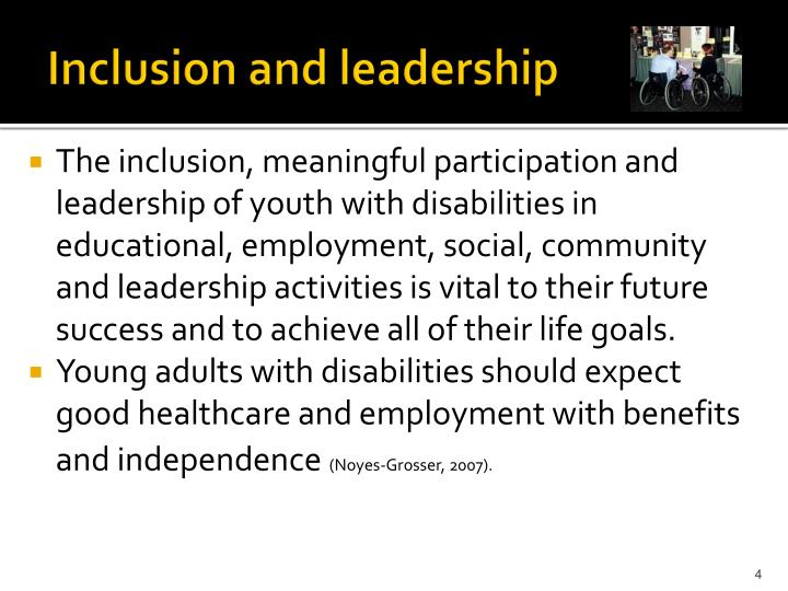 Inclusion and leadership
