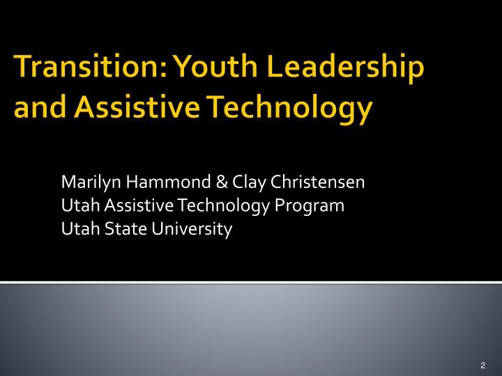 Marilyn Hammond & Clay Christensen