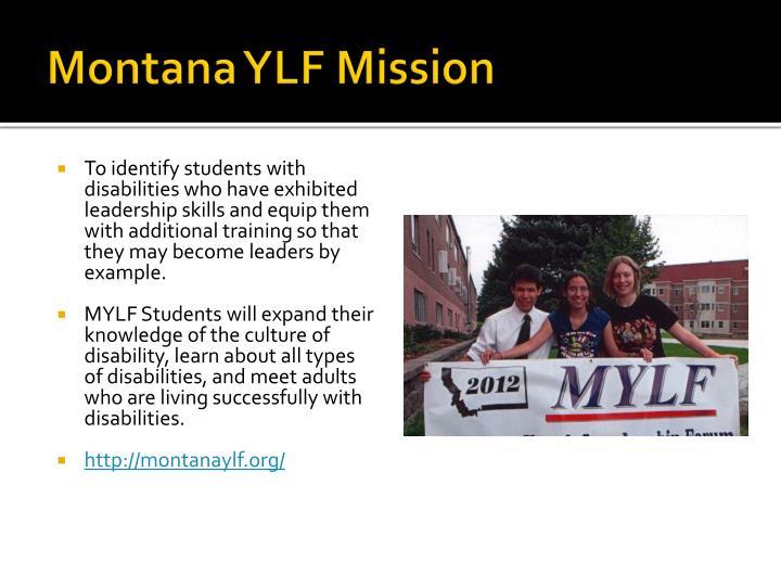 Montana YLF Mission