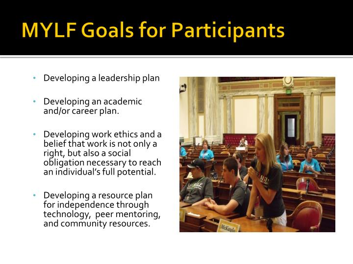 MYLF Goals for Participants