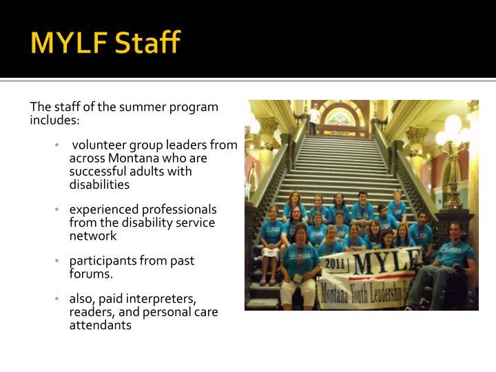 MYLF Staff