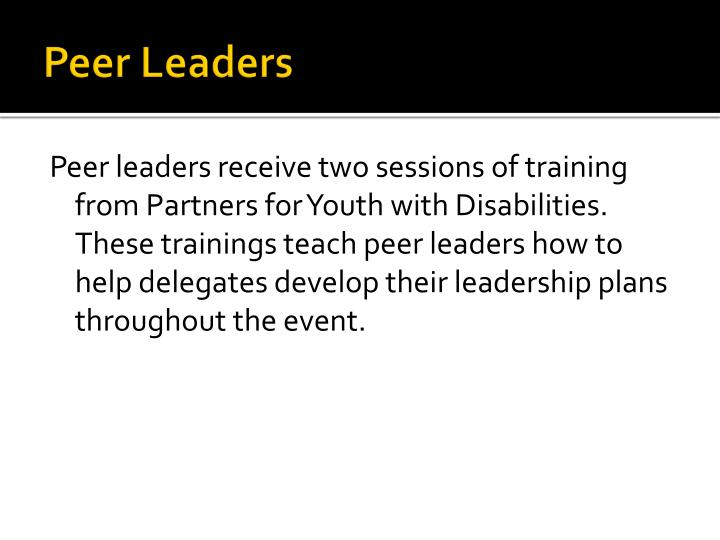 Peer Leaders