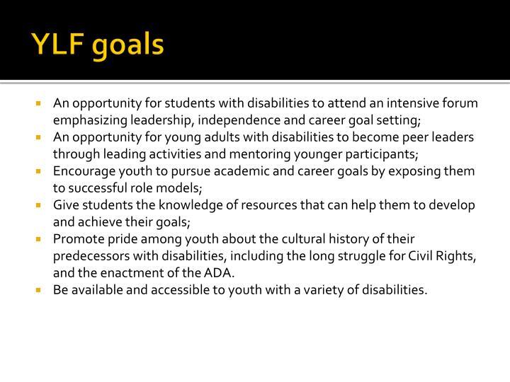 YLF goals