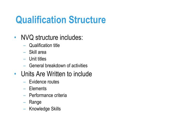 Qualification Structure