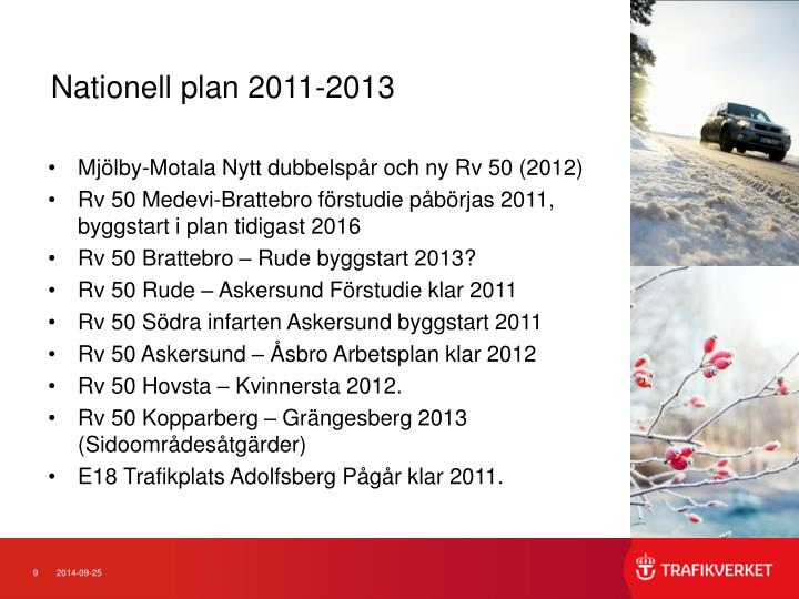 Nationell plan 2011-2013