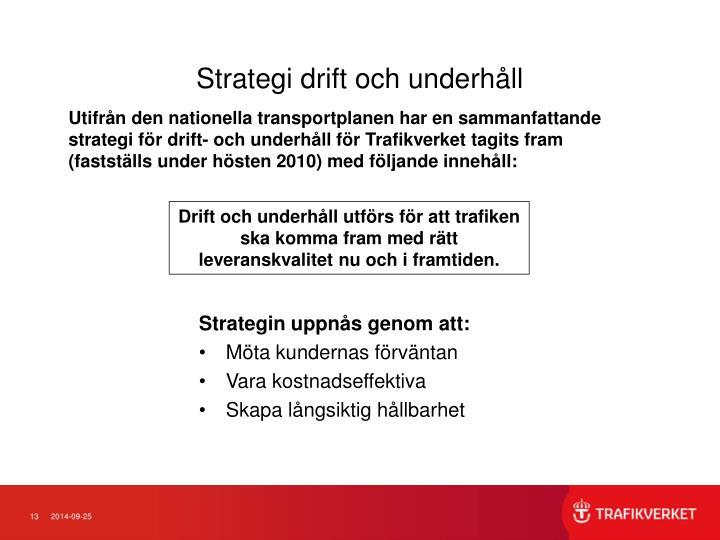 Strategi drift och underhåll
