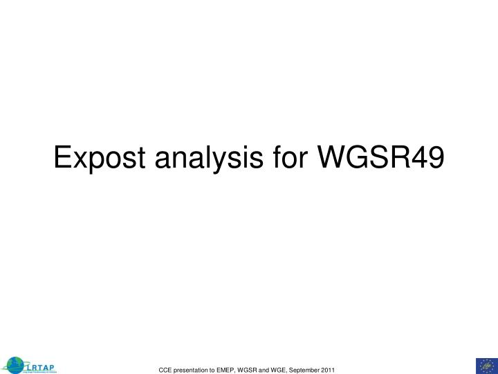 Expost analysis for WGSR49