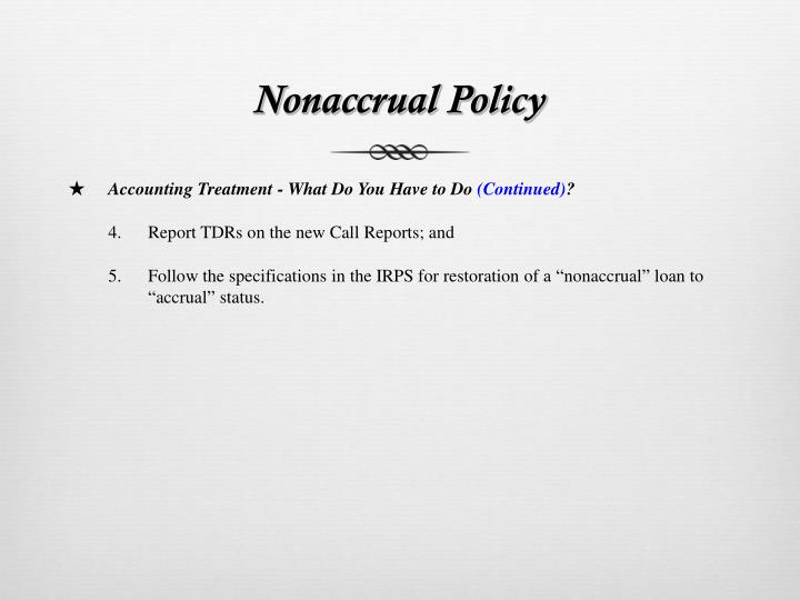 Nonaccrual Policy
