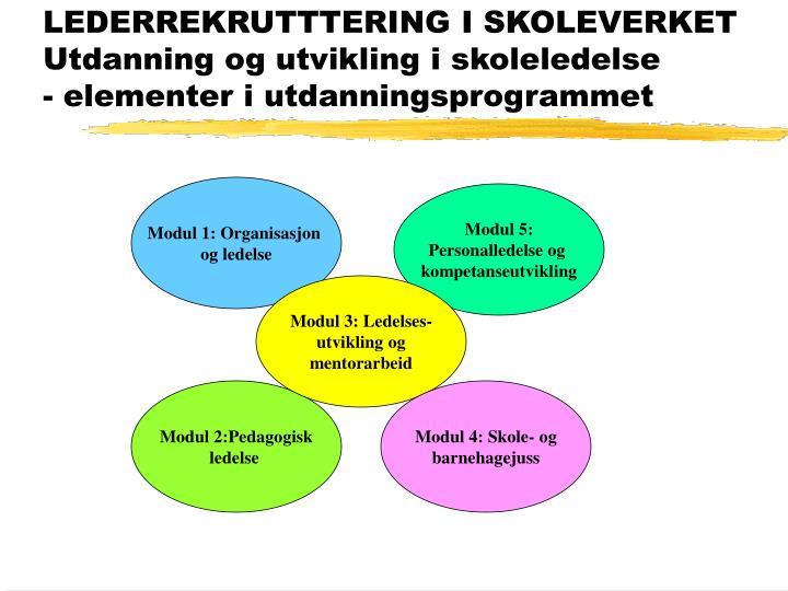 LEDERREKRUTTTERING I SKOLEVERKET