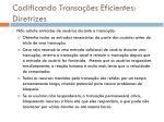 codificando transa es eficientes diretrizes