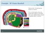 example sf giants baseball