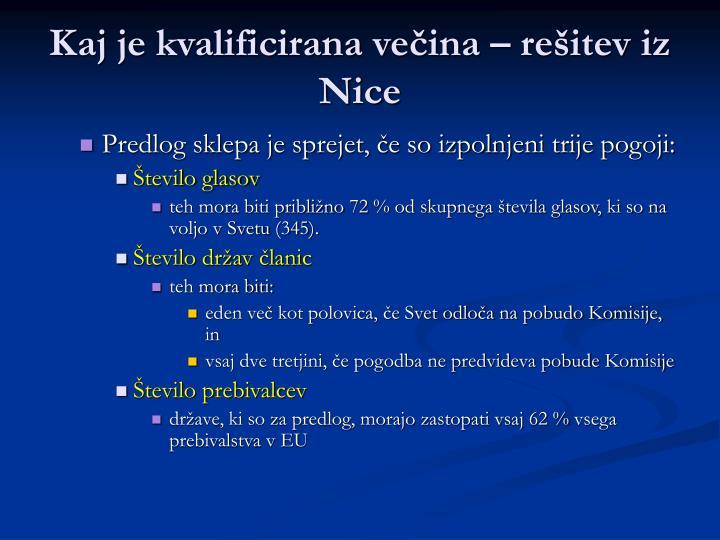 Kaj je kvalificirana večina – rešitev iz Nice