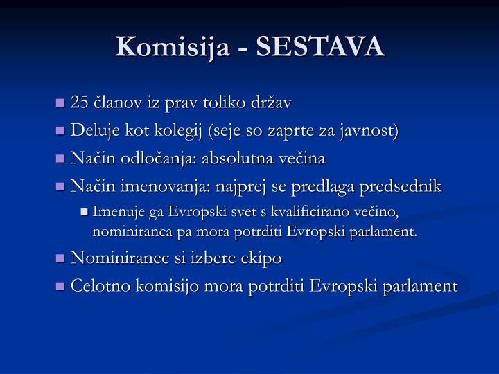 Komisija - SESTAVA