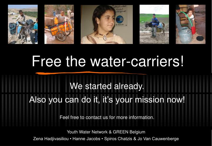 Free the water-carriers!
