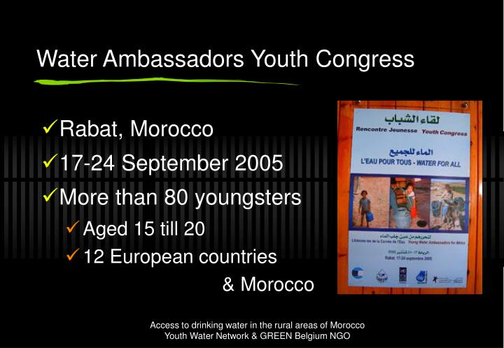 Water Ambassadors Youth Congress
