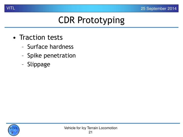 CDR Prototyping