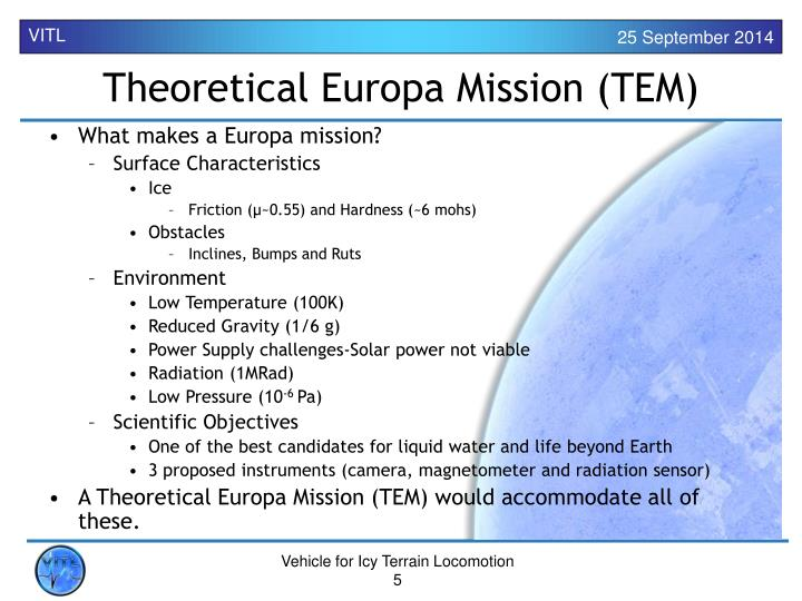 What makes a Europa mission?