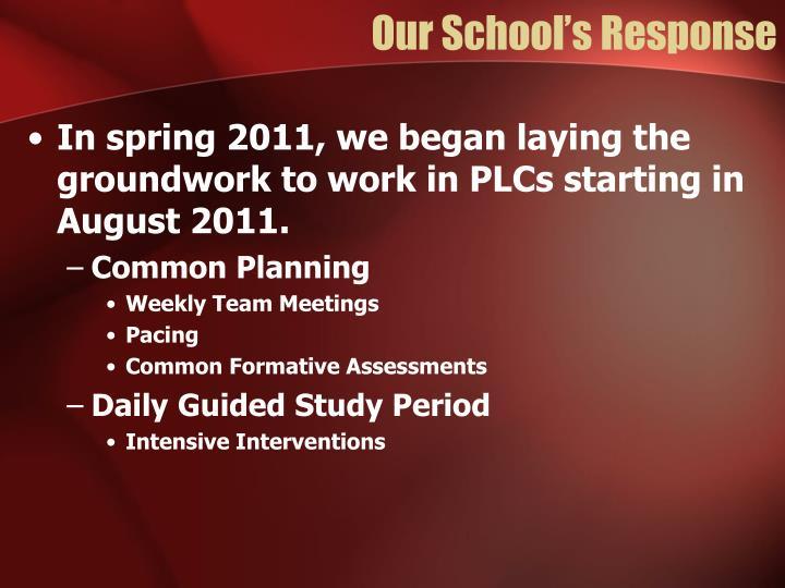 Our School's Response