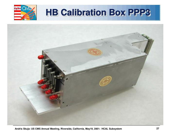 HB Calibration Box PPP3