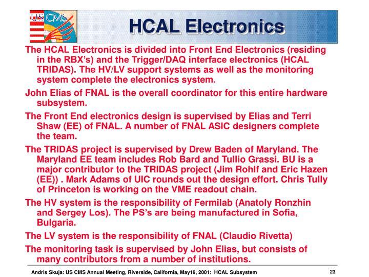 HCAL Electronics